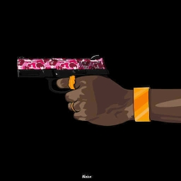 "Cover of track ""bullets wit da draco"" feat. Collab Gang by KINGMANN"