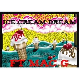 Cover of track Ice Cream Dream Chopped and Screwed by King P