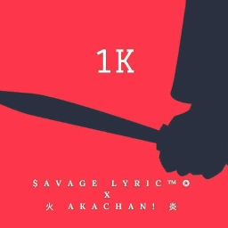 Cover of track 1k by ⛥$avage Lyric ™⛥