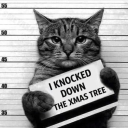 Cover of track I knocked down the xmas tree| RAP BEAT INSTRUMENTAL by katzenmuzik
