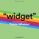 "Cover of album ""widget"" by trevor whatevr"