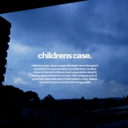 Cover of track childrens case by thelittlethings