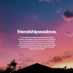 Cover of track friendshipwaslove by whoislvoe